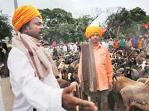 Villagers protest