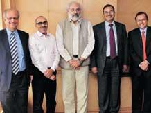 Bharat Doshi, Anil Singhvi, Subir Gokarn, M D Mallya and S Naganath