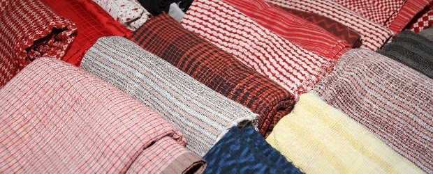 Cotton and tusser products by women weave at the exhibition