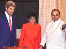 US Secretary of State John Kerry, US Secretary of Commerce Penny Pritzker & Arun Jaitley