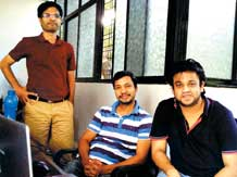 Kunal Lagwankar (extreme right) with co-founders