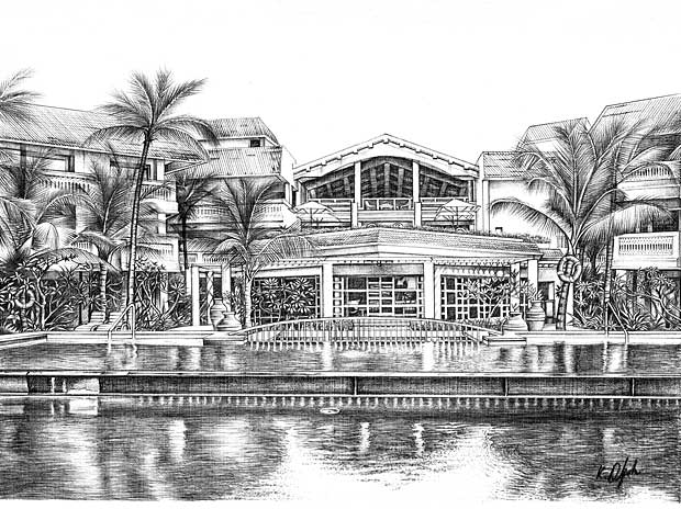 Sketches of resorts by  Mahindra Holidays