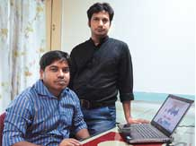 Anand Agarwal (right) and Vishwajeet Singh started the company in 2012