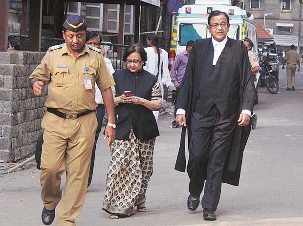 Former Union minister and advocate P Chidambaram after appearing for Shardul in Shardul Shroff vs Cyril Shroff case in Mumbai on Tuesday