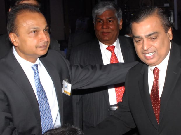 Both, Anil and Mukesh Ambani (pictured), announced a number of infrastructure projects in and around Mumbai including a world class convention centre in BKC by RIL Picture by Kamlesh Pednekar
