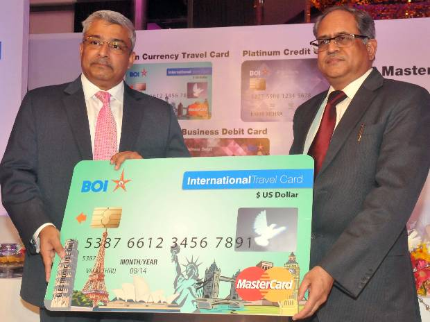 Bank of india and mastercard launch new products business standard bank of india launch reheart Images