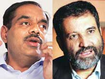 Exfinity Ventures founders V Balakrishnan (left) and  T V Mohandas Pai