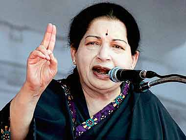 J Jayalalithaa. File photo