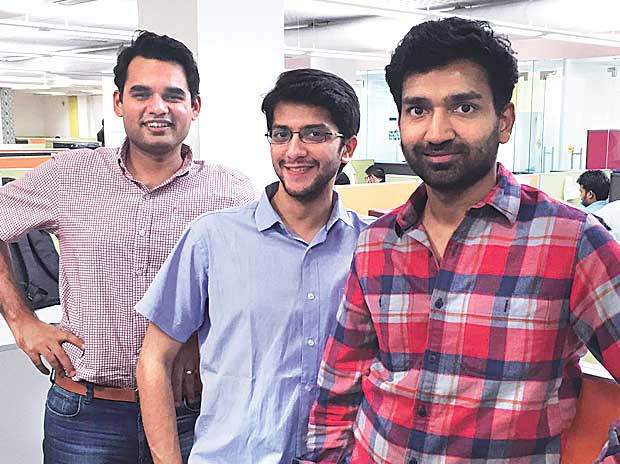 UrbanClap founders (from left)  Abhiraj Bhal, Raghav Chandra and Varun Khaitan