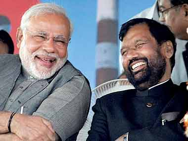Narendra Modi & Ram Vilas Paswan. File photo