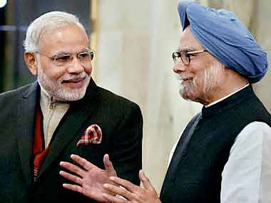 Narendra Modi & Manmohan Singh