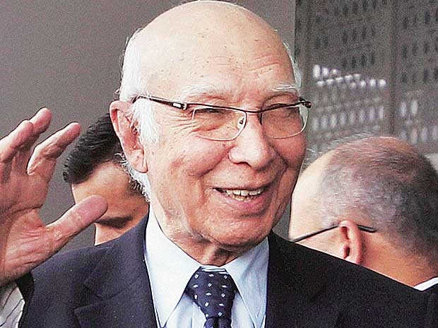 Pak will not accept any talks with India that exclude Kashmir: Sartaj Aziz