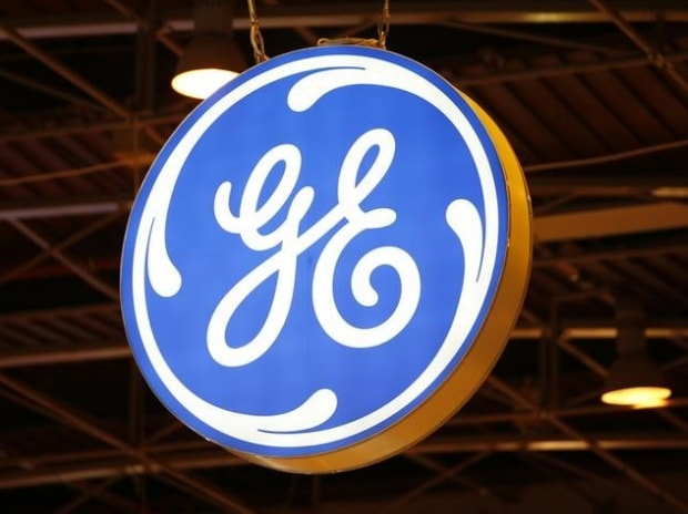 The logo of General Electric is pictured at the 26th World Gas Conference in Paris, France
