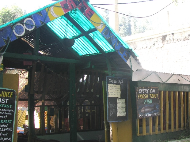 A restaurant in Manali selling fresh trout every day