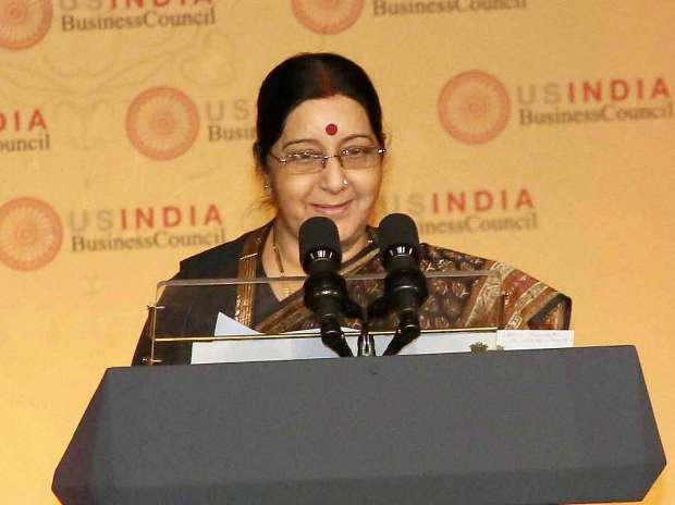 Withdraw tricolour doormats or face visa ban: Sushma Swaraj to Amazon