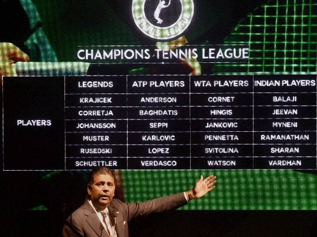 Former Tennis player Vijay Amritraj  during the announcement of the Champions Tennis League season 2 in Mumbai