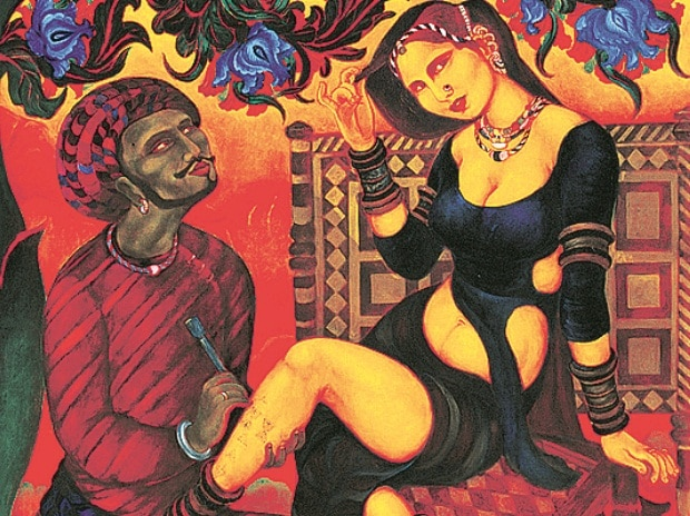 Yayati and the quest for pleasure business standard news for Asha ramachandran mural painting