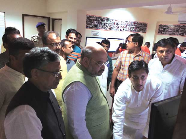 BJP national president Amit Shah personally micromanaging the digital campaign