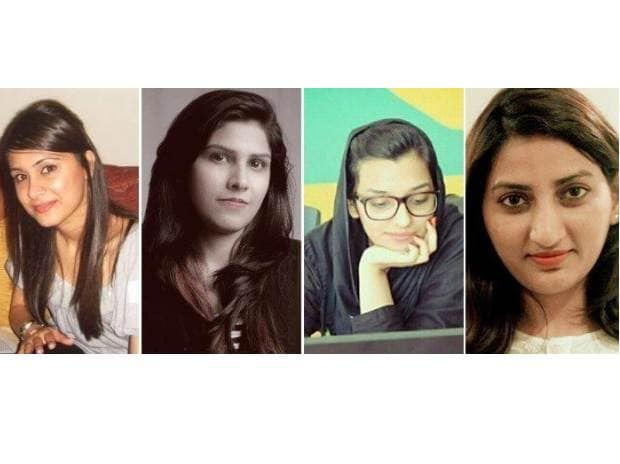 L to R: Sahr Said, Madeeha Hassan, Arusha Imtiaz and Sidra Qasim. Image via Tech in Asia