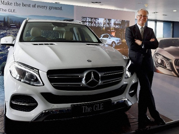 MD and CEO of Mercedes-Benz India, Roland Folger during the launch of The GLE car in Chennai