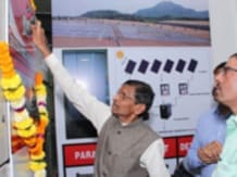 Inauguration of solar power plant at Hindustan Coca-Cola's bottling unit in Wada