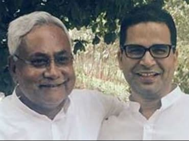 Nitish Kumar wth Prashant Kishor