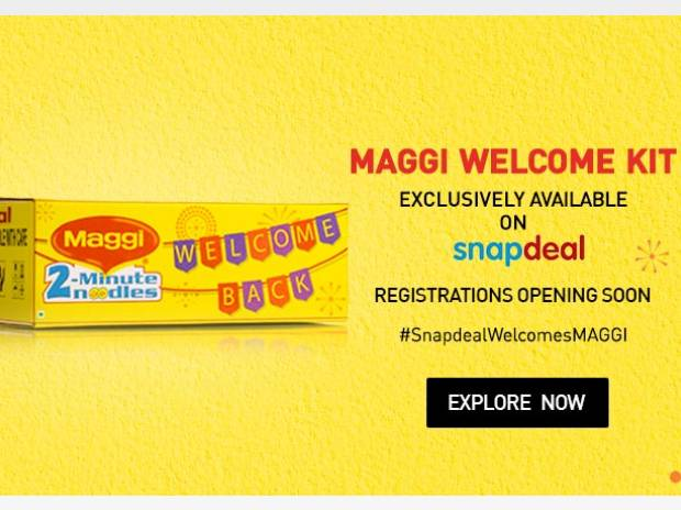 Maggi 'Welcome Kit' flash sale on Snapdeal