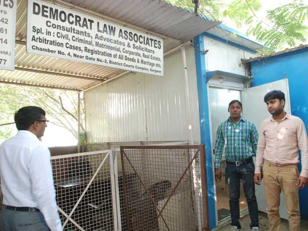 Tin shack where provisional committee of Manesar plant's sacked workers meet