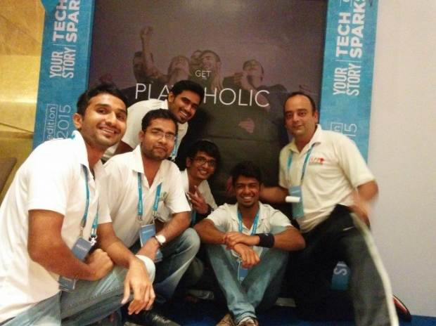 The team at Playo. Image via Tech in Asia