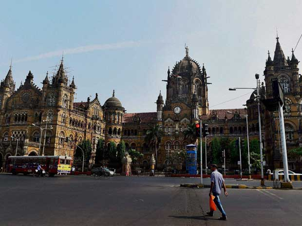 An outer view of Chatrapati Shivaji Railway Station on Wednesday, November 25, 2015. The terminus was targeted during 26/11 terror attack in 2008 PTI