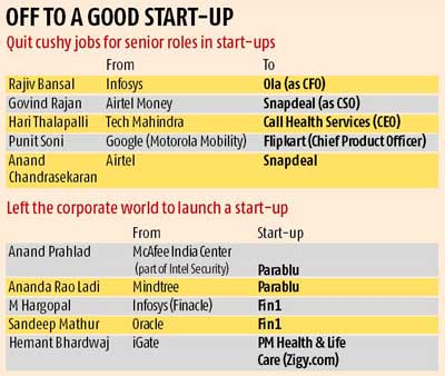 Why top executives are trading cushy jobs for start-ups