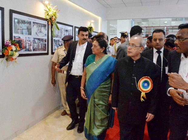 President Pranab Mukherjee during inauguration of Amul's State-of-the-art Feed Manufacturing Plant at Kapadwanj Tuluka in Kheda