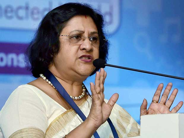 SBI chairman Arundhati Bhattacharya at inaugural session of INFOCOM 2015 in Kolkata on Thursday, December 3, 2015 PTI