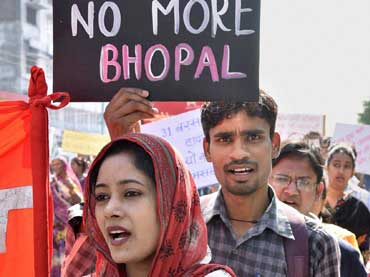 Bhopal Gas survivors protest