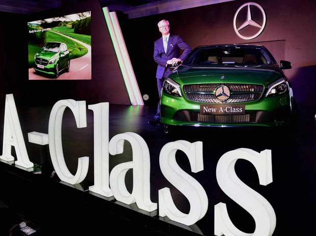 Roland S Folger, MD & CEO, Mercedes-Benz India at the launch of new Mercedes A-Class in Mumbai on Tuesday, Dec 08, 2015 PTI