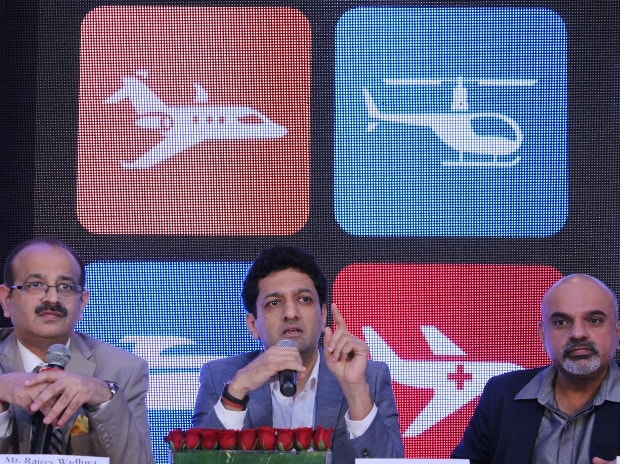 (From left to right)  Rajeev Wadhwa, Chairman and CEO of Baron Aviation, Pranav Parikh, Director, Baron Aviation and Dev Vaidya, Director, Baron Aviation at the launch of their charter flights service (Pic: Kamlesh Pednekar)