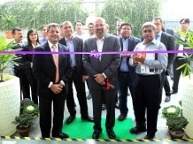 Alok officials at the inauguration of R&D labs