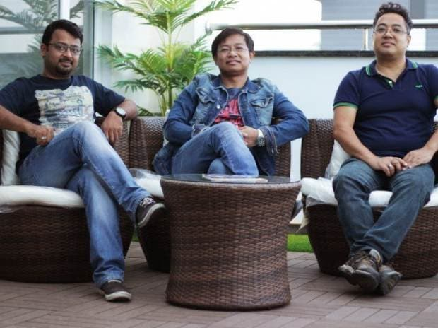 Giskaa's founders and leadership team: (from left) Ratheesh Elayat, Meghanath Singh, and Surchand Wahengbam. Image via Tech in Asia