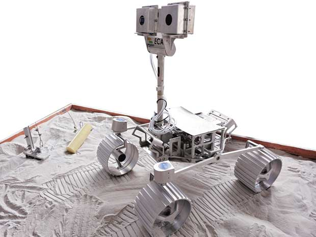 A prototype of Team Indus's lunar rover