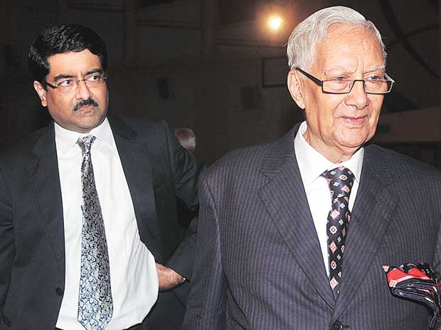 Kumar Mangalam Birla (left) and his grandfather, B K Birla, together hold 57 per cent in Pilani Investment