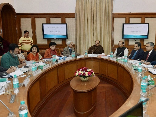 Union Minister for Finance, Arun Jaitley chairing the first meeting of the Governing Council of National Investment & Infrastructure Fund Trustee Ltd. (NIFTL), in New Delhi on Tuesday. MoS for Finance,  Jayant Sinha and other dignitaries are also