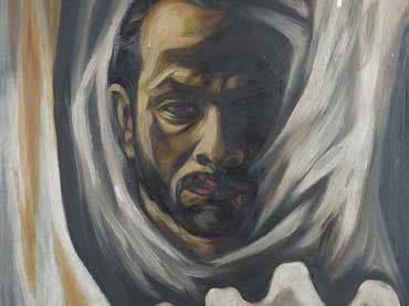 Self-portrait, 1956, oil on board