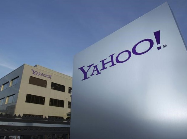 A Yahoo logo is pictured in front of a building in Rolle, 30 kms (19 miles) east of Geneva. Photo: Reuters