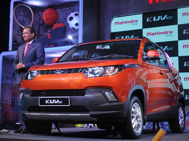 Pawan Goenka, Executive Director, Mahindra & Mahindra at the launch of SUV KUV 100 at the company's Chakan plant in Pune on January 15, 2016. Photo: Suryakant Niwate