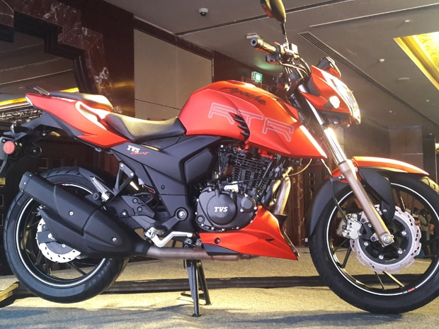 TVS' newly-launched Apache RTR 200 4V