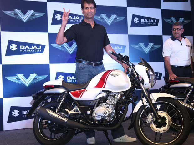 Bajaj Auto managing director Rajiv Bajaj at unveiling of V15 motorcycle