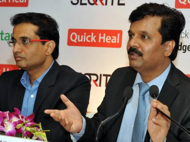 Kailash Katkar, MD & CEO, Quick Heal (right) and Sanjay Katkar, CTO. Class 10 educated Kailash founded the company with his younger brother Sanjay from the former's hardware repair shop in Pune. Photo: Suryakant Niwate