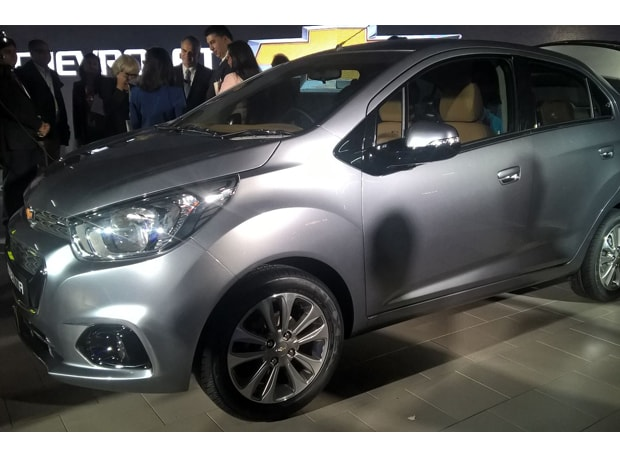 General Motors India's Essentia is on display at the Auto Expo