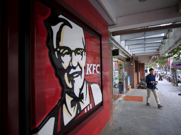 A customer walks out of a KFC restaurant in Shanghai. Photo: Reuters