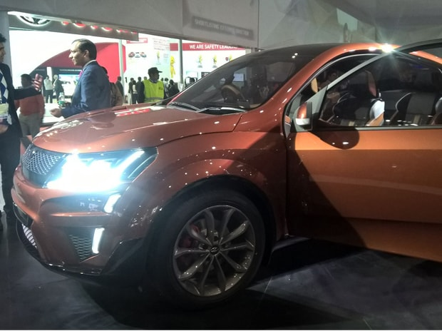 M&M's XUV Aero on display at the Auto Expo